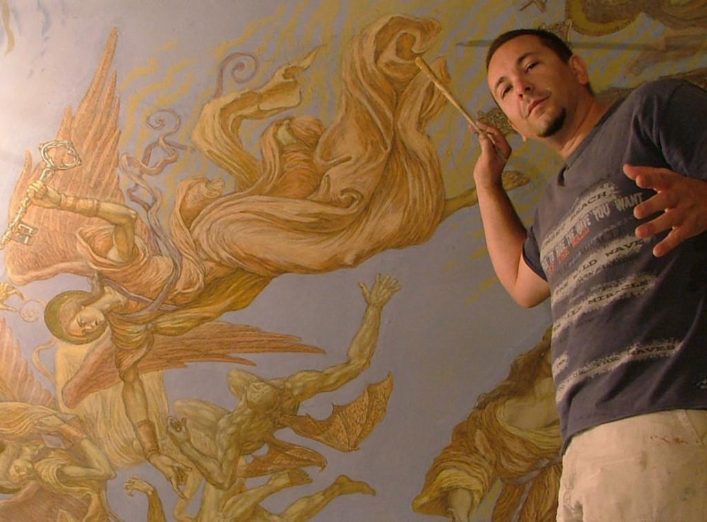 Pintando en Higueruelas